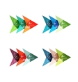 Colorful arrow option infographics banners vector image vector image