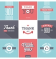 Colorful Thank you Cards vector image vector image