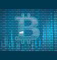 crypto currency symbol vector image vector image