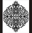 damask floral element vector image vector image