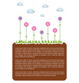 earth land template vector image vector image
