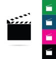 film clapper icon vector image vector image