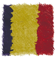 Flag of Romania handmade square shape vector image vector image