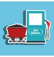 gas and mining isolated icon design vector image vector image