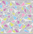geometric low poly triangle seamless pattern vector image