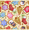 Gingerbread cookies background Food vector image vector image