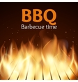 Grille with fire BBQ poster vector image vector image