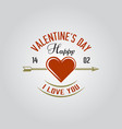 happy valentines day isolated label vector image vector image