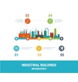 Industrial factory buildings vector image vector image