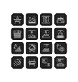 industries and manufacturing icons set vector image vector image