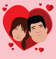 isolated happy couple vector image vector image