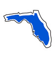 isolated map of the state of florida vector image