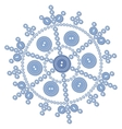 Isolated snowflake 05 vector image