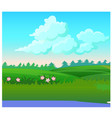 landscape with coniferous forest on the horizon vector image vector image