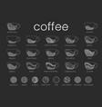 line infographic coffee set recipes vector image