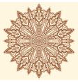 Mandala Beautiful hand-drawn flower vector image vector image