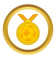 Medal in football icon vector image vector image
