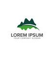 mountain leaf logo leaf garden floral landscape vector image