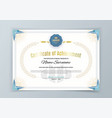 official white certificate with bluetriangle vector image