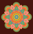 ornate mandala with bright colors vector image vector image