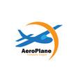 plane club logo vector image