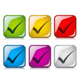 positive checkmarks vector image vector image