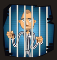 Prisoner in Jail vector image