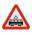 railroad crossing icon flat style vector image vector image