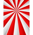 Red and white abstract rays circle poster vector image vector image
