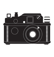 Retro camera in black and white vector image vector image