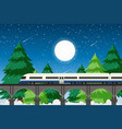 rural transportation in nature vector image vector image