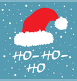 santa claus red hat with text ho ho ho vector image vector image