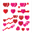 set heart vector image vector image