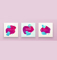 set liquid color abstract geometric shapes vector image vector image
