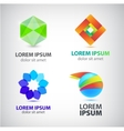 set of abstract shapes logos icons vector image
