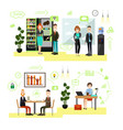 set of business people symbols icons in vector image vector image