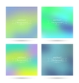 Set of colorful abstract backgrounds blurred vector image vector image