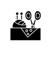 sewing business black icon sign on vector image
