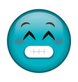 Sorry face emoticon kawaii character vector image