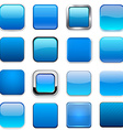 Square blue app icons vector image vector image