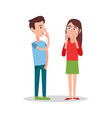 standing boy and girl isolated on white background