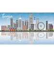 Tianjin Skyline with Gray Buildings Blue Sky vector image