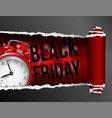 torn paper with opening showing black friday vector image vector image