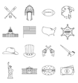 USA icons set outline style vector image vector image