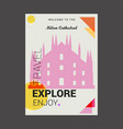 welcome to the milan cathedral italy explore vector image vector image