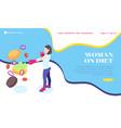 woman on diet website vector image vector image