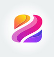 z icon logo with colorful concept vector image