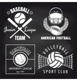Set of sport banners on chalkbpard vector image