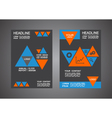 341triangle cover template design vector image vector image