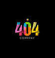 404 number grunge color rainbow numeral digit logo vector image vector image
